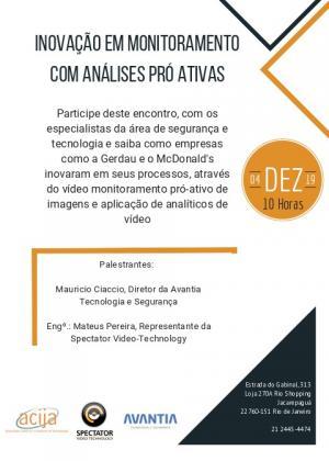 Palestra: Inovação em Monitoramento com Análises Pró Ativas.
