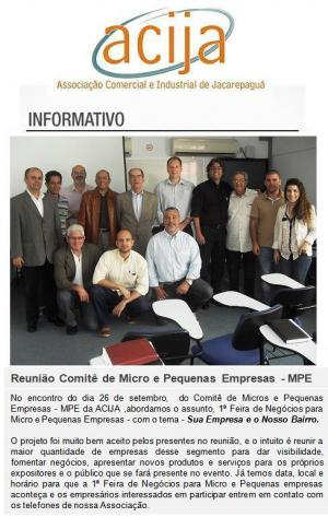 Reunião do Comitê de Micro e Pequenas Empresas