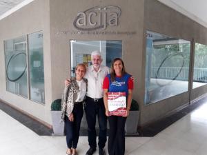 Diretor Secretário da ACIJA recebeu as representantes da Signorelli.