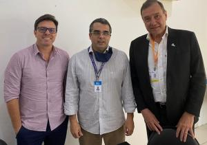 Superintendente Regional de Jacarepaguá recebe visita do presidente da Acija.