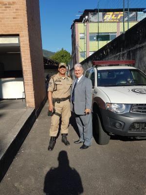 Presidente da ACIJA visita a 7ª IGM (Inspetoria da Guarda Municipal).