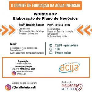 Participe do Workshop Gratuito de Plano de Negócios