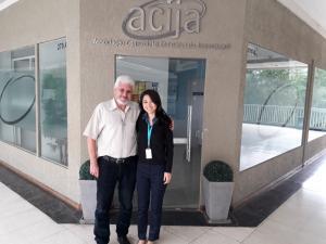 Diretor Secretário da ACIJA recebeu a representante da PrimaVida.
