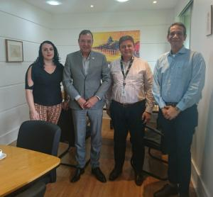Presidente da ACIJA visita Guerbet Produtos Radiológicos.